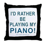 Playing Piano Throw Pillow