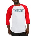 Playing Piano Baseball Jersey