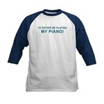 Playing Piano Kids Baseball Jersey