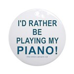 Playing Piano Keepsake Ornament