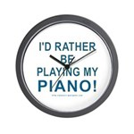 Playing Piano Wall Clock