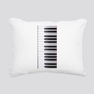 Piano Keyboard 3 Rectangular Canvas Pillow