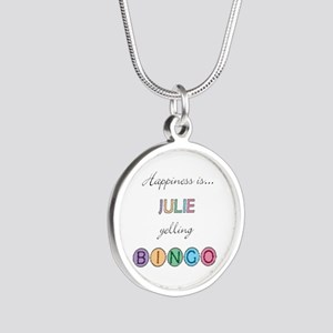 Julie Yelling BINGO Silver Round Necklace