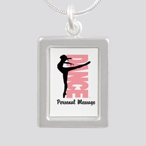 Personalized Beautiful Dancer Silver Portrait Neck