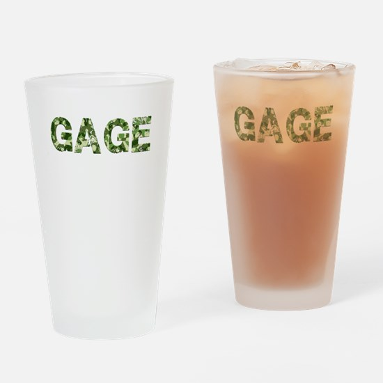 Gage, Vintage Camo, Drinking Glass