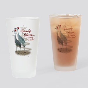 Sandy Claws is coming to town! Drinking Glass
