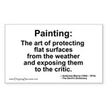 Painting: art of protecting... Rectangle Sticker