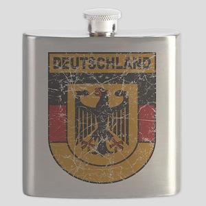 Deutschland Crest copy distressed Flask