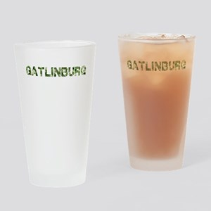 Gatlinburg, Vintage Camo, Drinking Glass