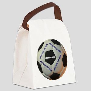 Soccerball Canvas Lunch Bag