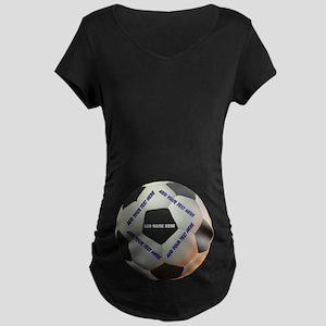 Soccerball Maternity Dark T-Shirt