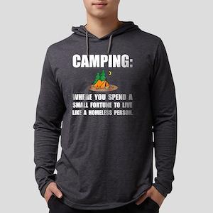 Camping Homeless Mens Hooded Shirt
