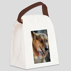 WElsh corgi up closeportrait Canvas Lunch Bag