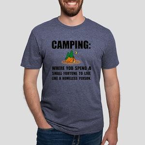 Camping Homeless Mens Tri-blend T-Shirt