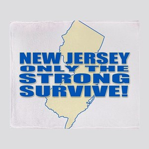 New Jersey Strong Throw Blanket