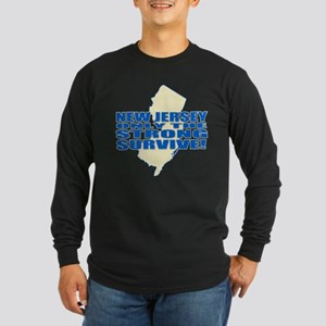 New Jersey Strong Long Sleeve Dark T-Shirt