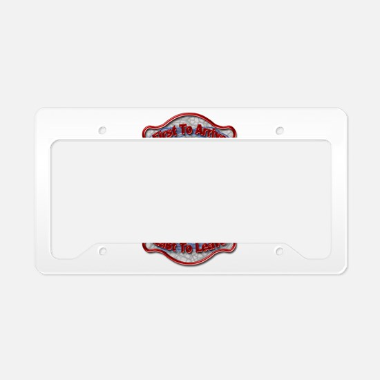 Cute Fire fighter License Plate Holder