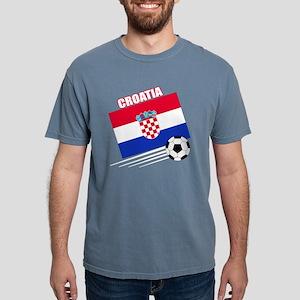 croatia soccer &ball drk Mens Comfort Colors Shirt