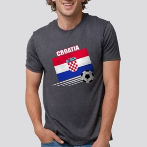 croatia soccer &ball drk.pn Mens Tri-blend T-Shirt