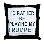 Play Trumpet Throw Pillow