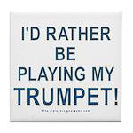 Play Trumpet Tile Coaster