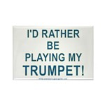 Play Trumpet Rectangle Magnet