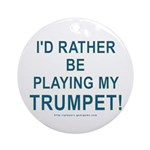 Play Trumpet Ornament (Round)