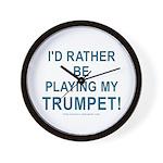 Play Trumpet Wall Clock