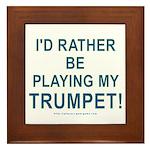 Play Trumpet Framed Tile