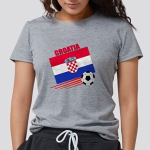 croatia soccer &ball Womens Tri-blend T-Shirt