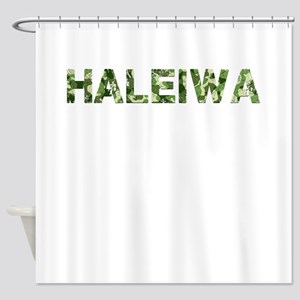 Haleiwa, Vintage Camo, Shower Curtain