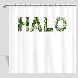 Halo Vintage Camo Shower Curtain