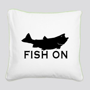 Fish on Square Canvas Pillow