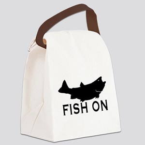 Fish on Canvas Lunch Bag