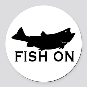 Fish on Round Car Magnet