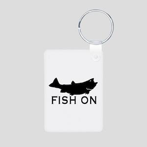 Fish on Aluminum Photo Keychain