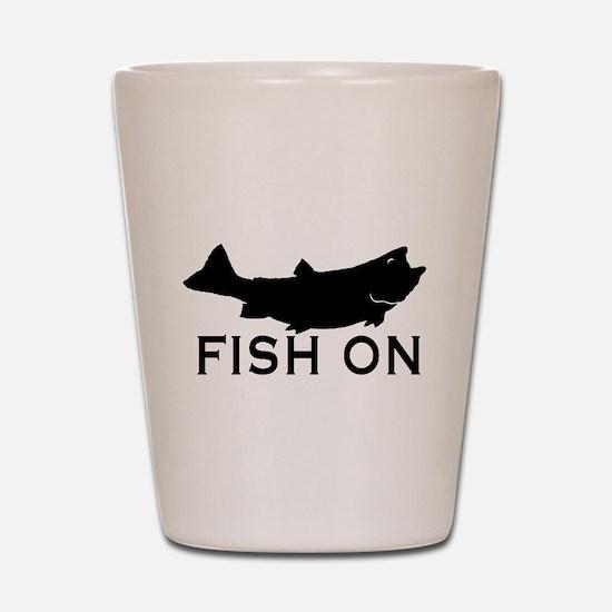Fish on Shot Glass