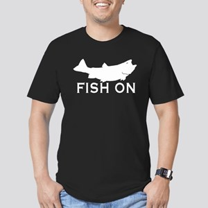 Fish on Men's Fitted T-Shirt (dark)
