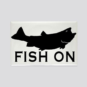 Fish on Rectangle Magnet