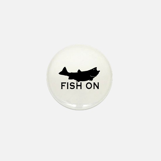 Fish on Mini Button