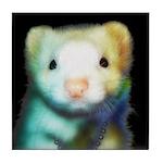 Rainbow Ferret Tile Coaster