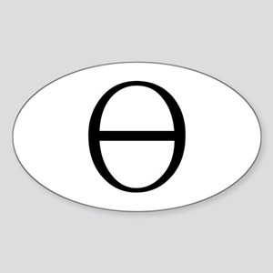 Greek Symbol Theta Oval Sticker