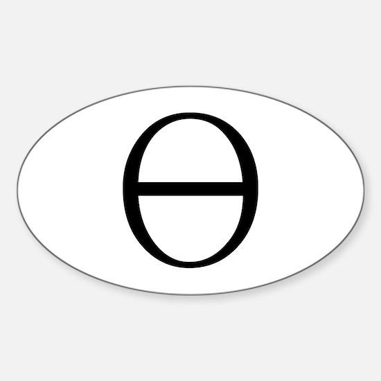 Greek Symbol Theta Oval Decal