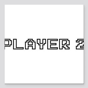"""Player 2 Square Car Magnet 3"""" x 3"""""""
