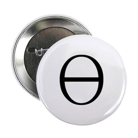 Greek Symbol Theta Button