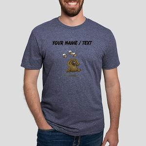 Custom Bear Running From Be Mens Tri-blend T-Shirt