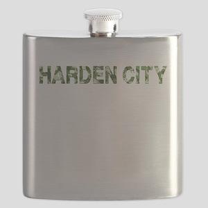 Harden City, Vintage Camo, Flask