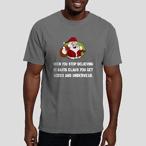 Santa Socks Underwear Mens Comfort Colors Shirt