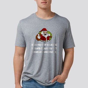Santa Socks Underwear Mens Tri-blend T-Shirt