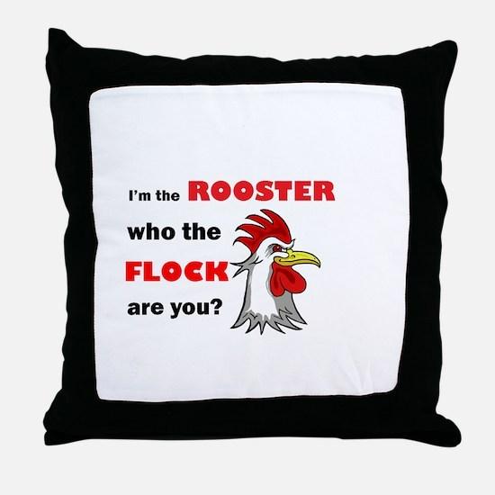 Who the flock tee Throw Pillow